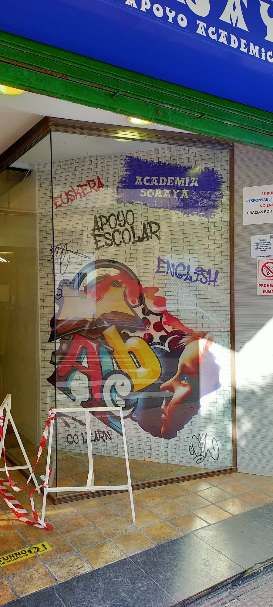 Nueva rotulación para academia de idiomas en el Pais Vasco