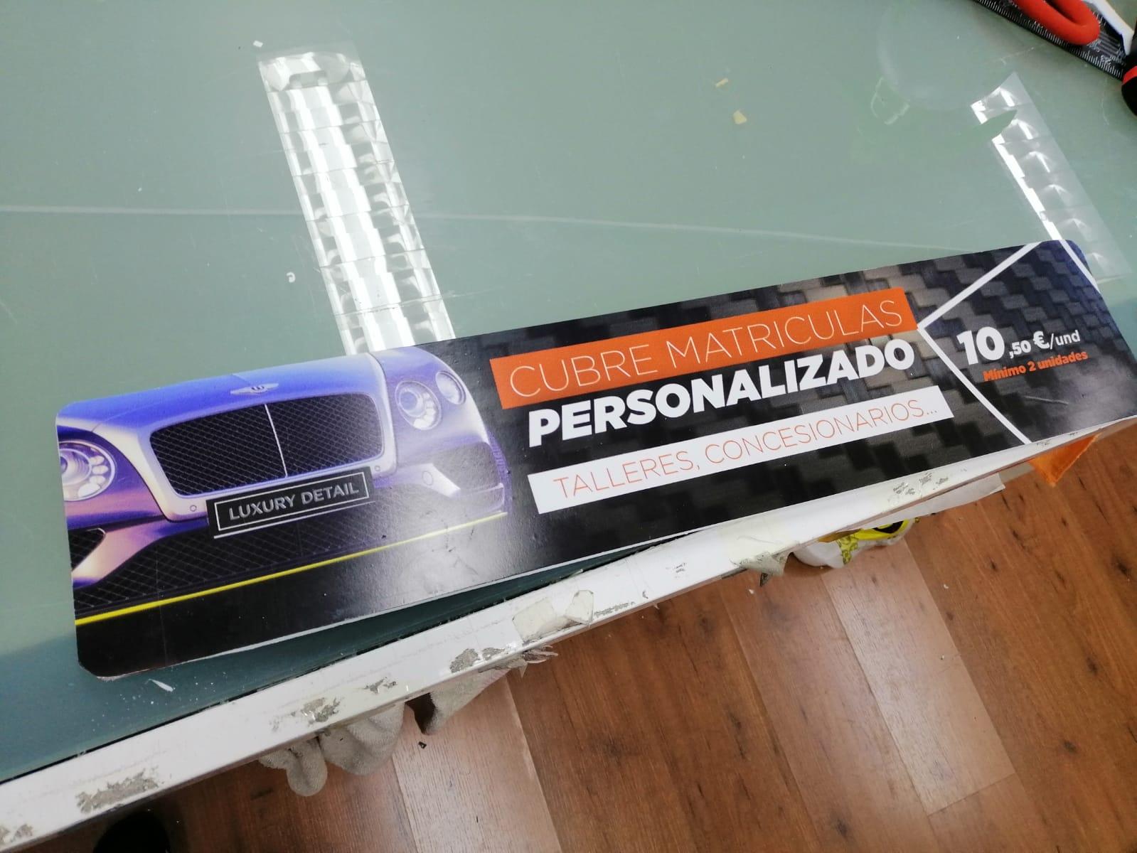 Nuevo producto personalizado, ¡CUBRE MATRÍCULAS!!