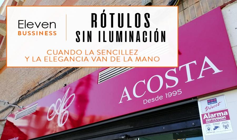 Instalación y Diseño de Rotulos sin iluminación en Cantabria y País Vasco